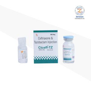 Ceftriaxone 500mg + Tazobactum 62.5mg