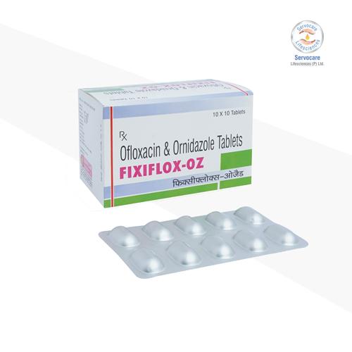 Ofloxacin 50mg + Ornidazole 125mg / 5ml