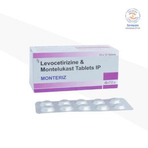 Montelukast 10mg + Levocetrizine 5mg